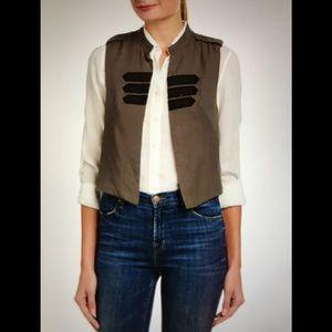 BCBGeneration Military Cropped Vest